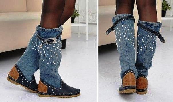Обувь из денима не сдает лидирующих позиций.
