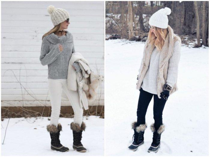 Зимние сапоги до колена с натуральным мехом сохранят ноги в тепле.