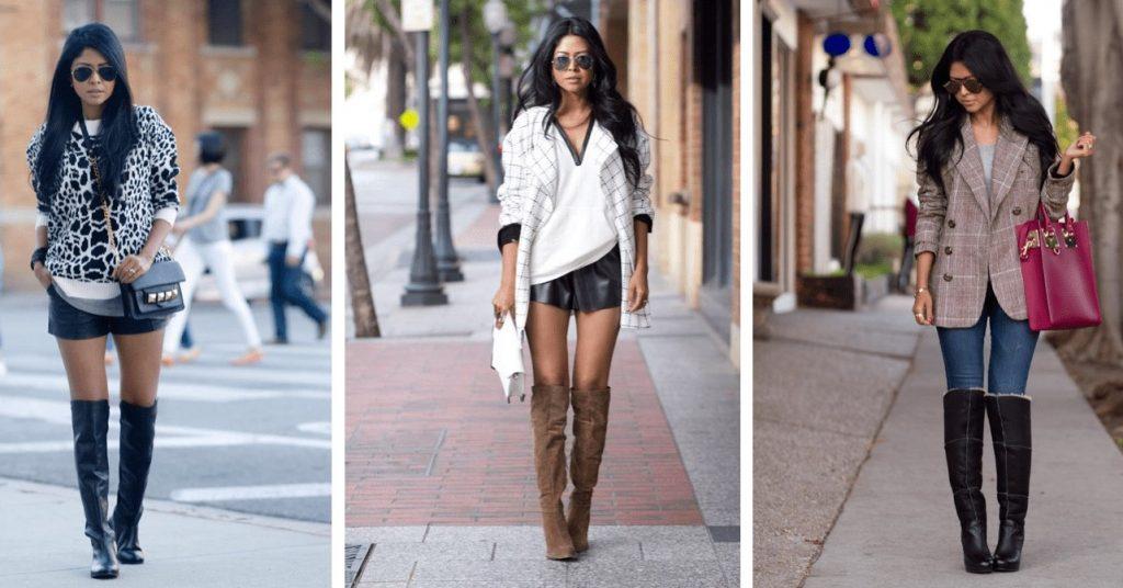 Ботфорты идеальны для лука в стиле casual. Они сочетаются как с шортами, так и с джинсами.