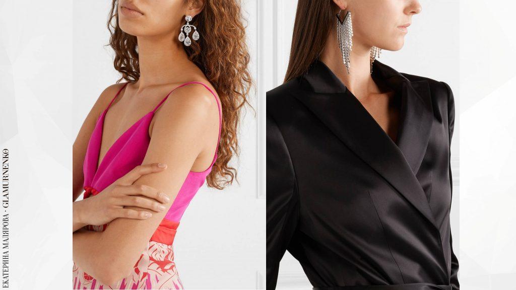 Такие серьги можно носить и с повседневным гардеробом, и с вариантами на выход