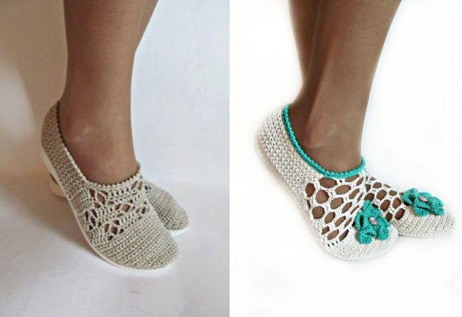 Вязаные слиперы хэнд мэйд – оригинальный вариант популярной обуви
