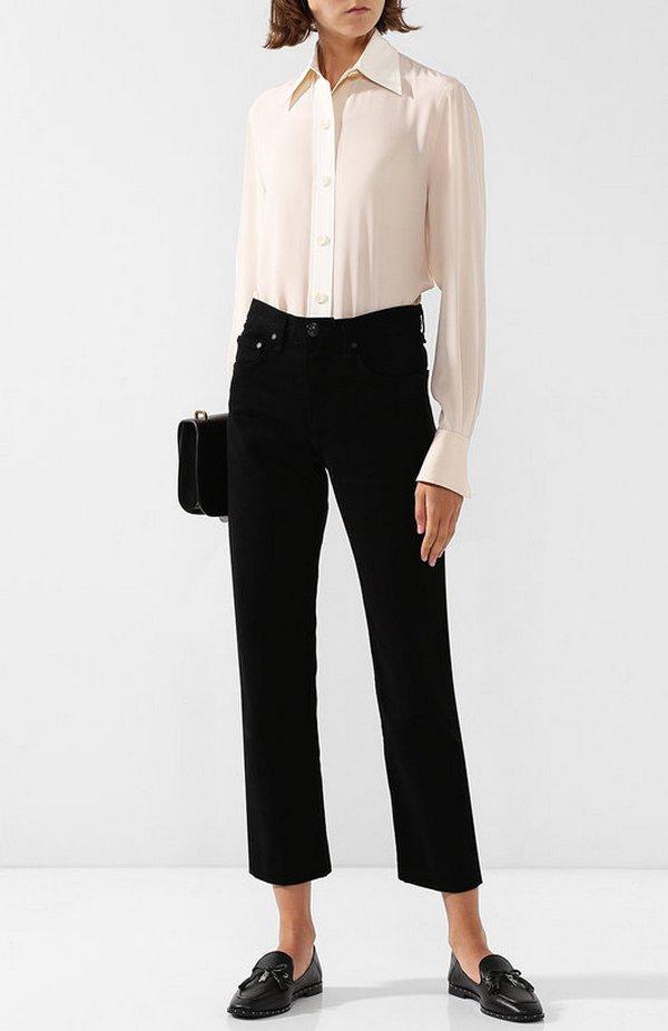 Черные кожаные слипоны – элемент делового стиля