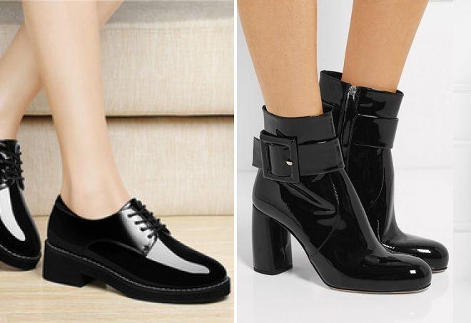 Чтобы лаковая обувь как можно дольше выглядела презентабельно, не забывайте вовремя ее чистить и наносить специальные уходовые средства.