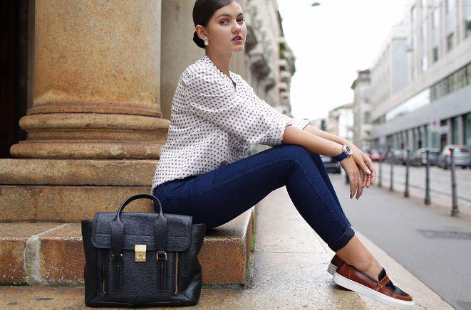 Натуральные кожаные слипоны обеспечат комфорт даже без носка.