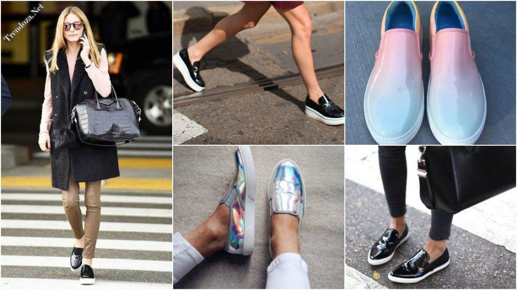 Современные женские слипоны - это разнообразие материалов и моделей.