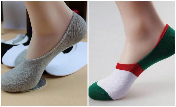 Незаметные укороченные носочки вполне подойдут для слипонов.