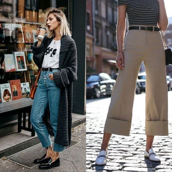 Примерьте два интересных лука с короткими джинсами и стильными бежевыми кюлотами.