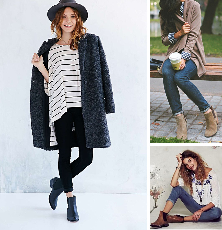 Комбинируйте ботинки с джинсами, футболкой оверсайз, кардиганом и пальто.