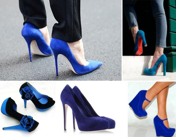 Разнообразие и ассортимент синих туфель впечатлит даже самую капризную модницу.