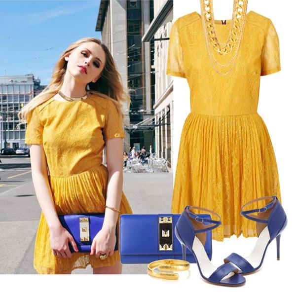 Модный в этом сезоне желто-синий тандем никогда не останется незамеченным.