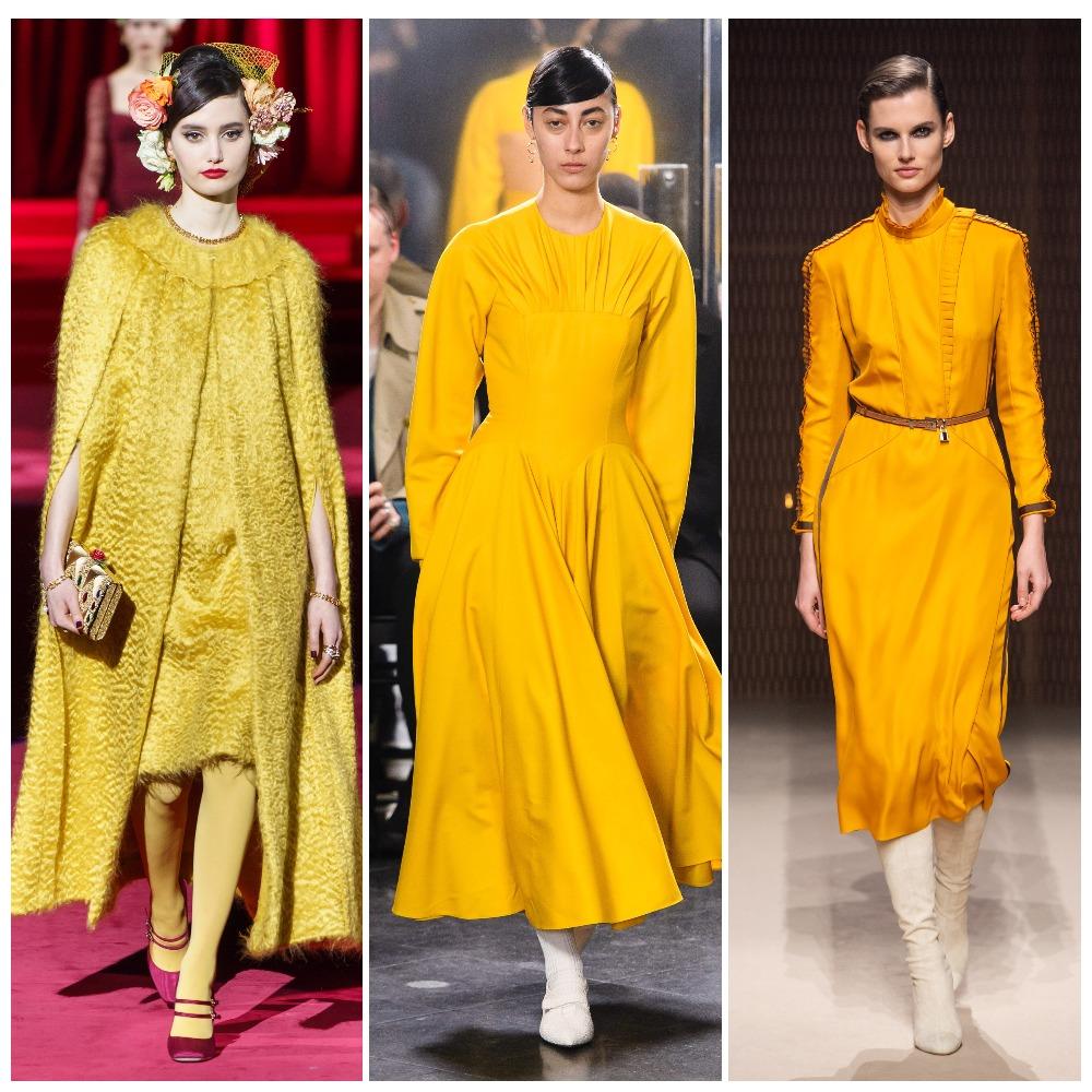 Dolce & Gabbana, Emilia Wickstead, Hermès осень-зима 2019-2020