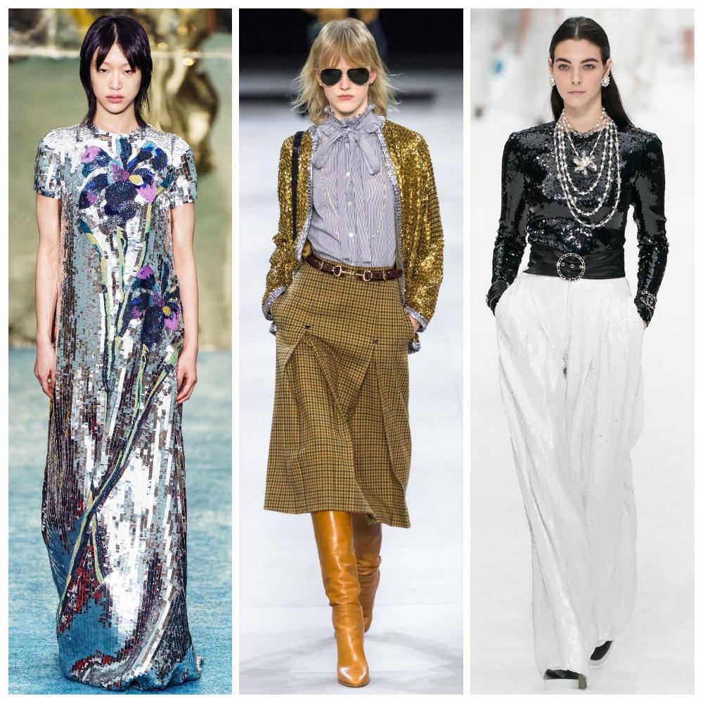 Carolina Herrera, Celine, Chanel осень-зима 2019-2020