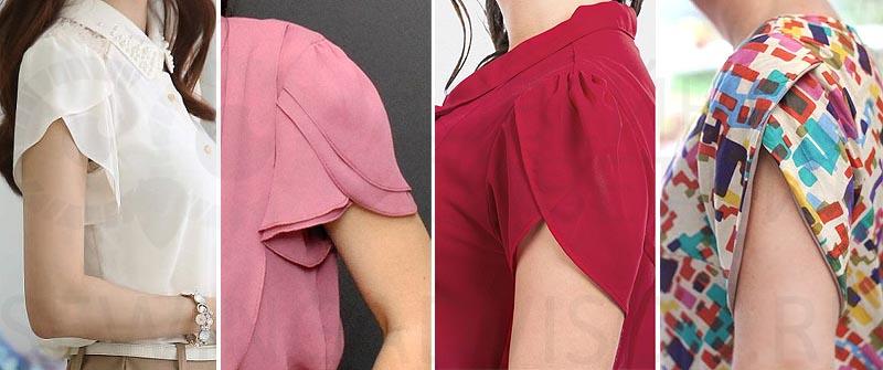 «Тюльпан» - оригинальная форма рукава летних блузок