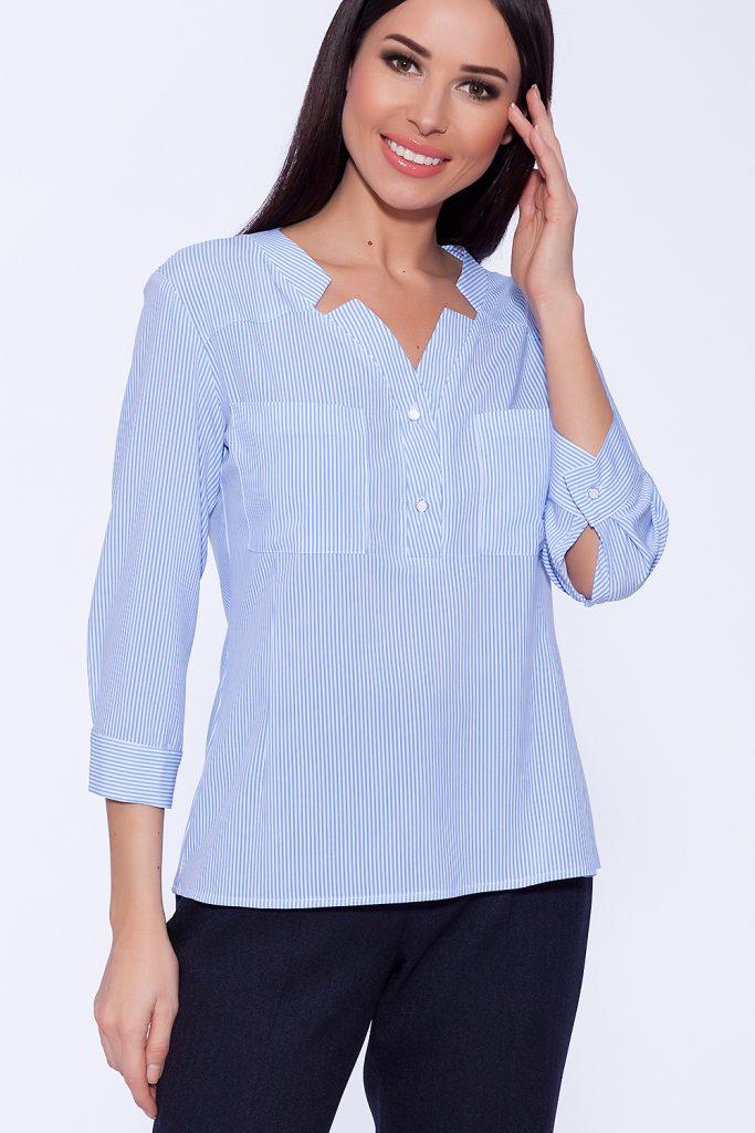 Брюнеткам стоит выбирать рубашки белого цвета или в мелкую светлую полоску