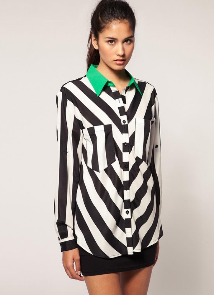 Рубашки в диагональную полоску способны скрыть недостатки фигуры