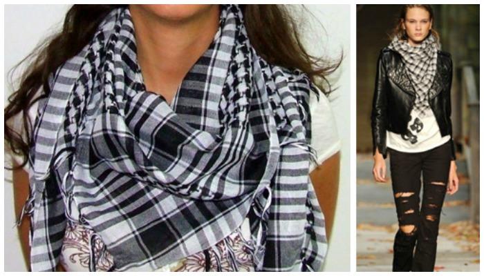 В повседневной жизни куфию можно носить как обычную косынку.