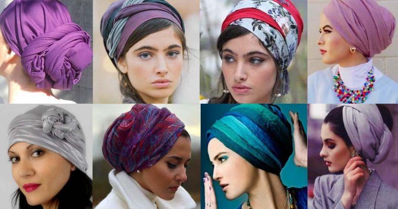 Существует уйма вариантов, как завязать платок на голову.