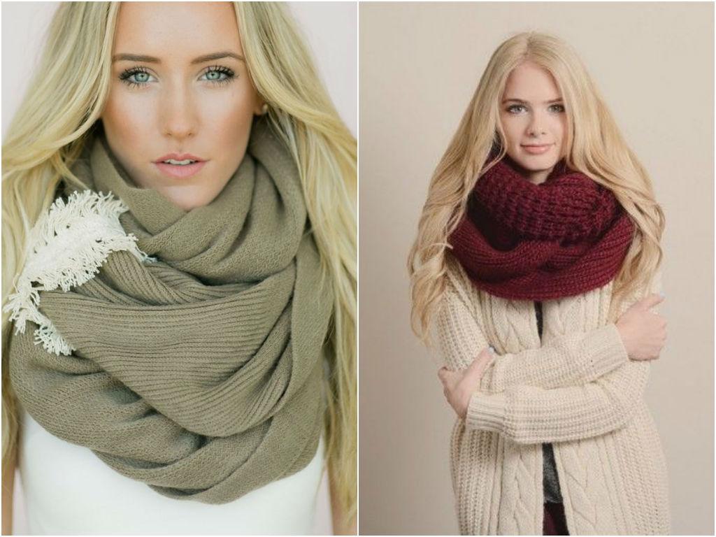 Чтобы согреться осенью, комбинируйте кардиган с теплым шарфом.