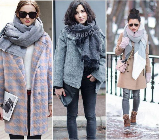 С объемным шерстяным палантином тепло даже в сильные морозы.