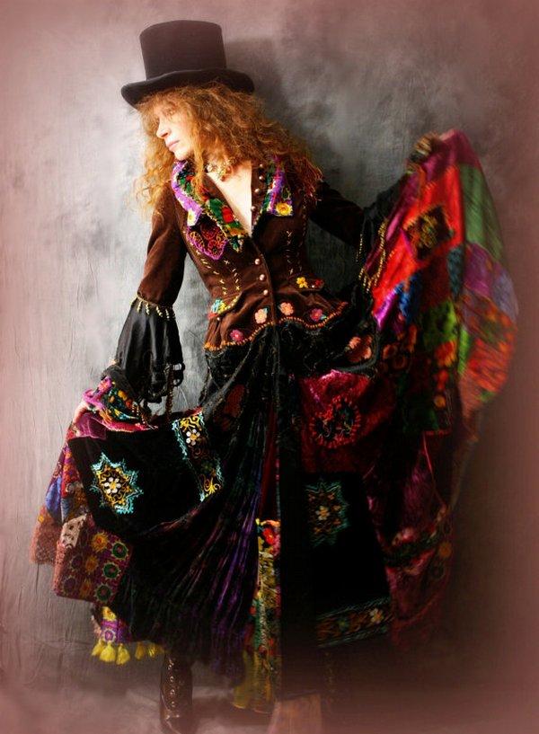 Этнический бохо впитал в себя традиции национальных нарядов многих народов мира