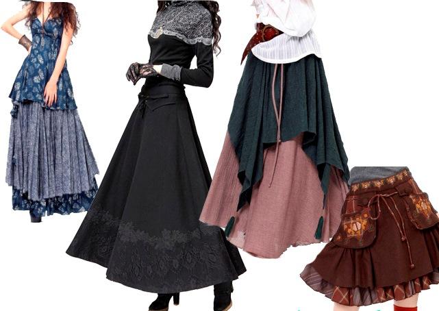 Асимметричный подол, оборки, рюши, обилие декора - юбки в стиле бохо узнаваемо броски