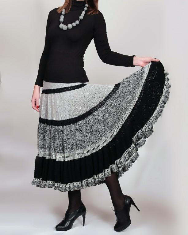 Вязаные юбки бохо - стильный элемент зимнего гардероба