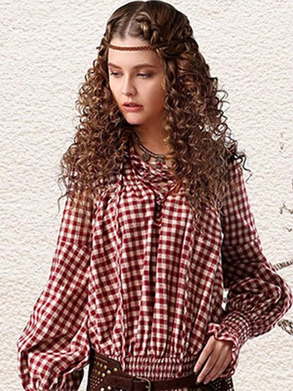 Яркие блузы с разнообразными принтами - отличное дополнение к бохо образам с юбками, шортами, джинсами