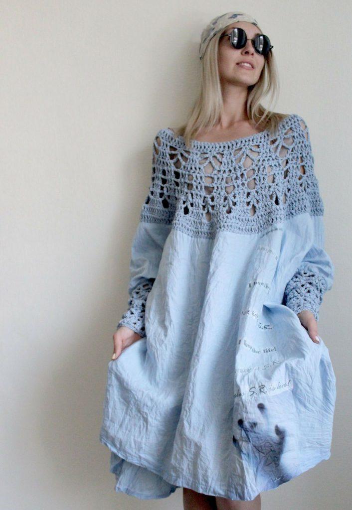 Платья в стиле бохо, напоминающие старинную нижнюю сорочку - особый шик и креатив