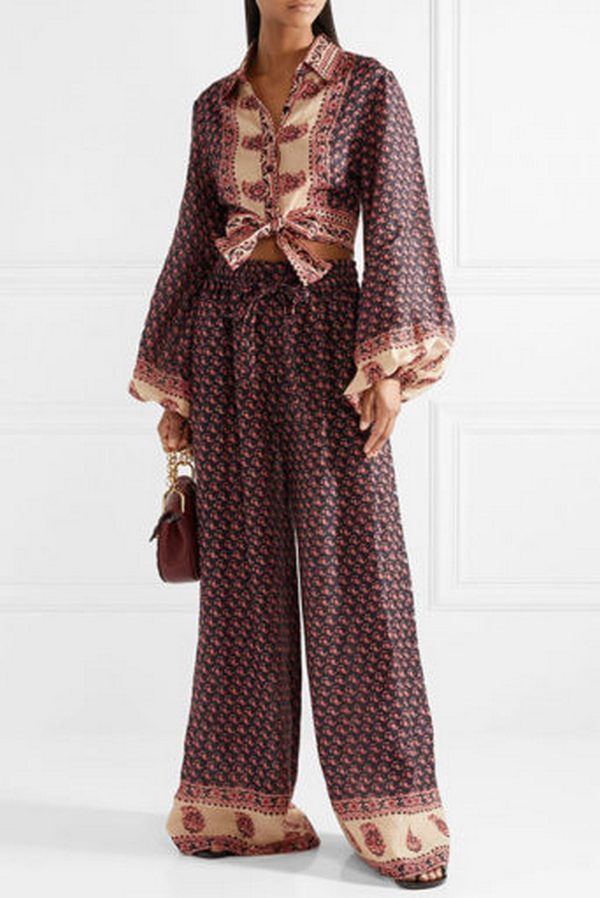 Широкие брюки с этно узорами в стиле бохо - комфортный и стильный элемент аутфитов