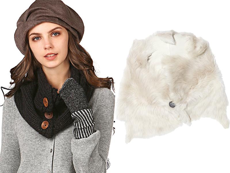 Шарф-воротник - необычное дополнение к пальто самых разных моделей