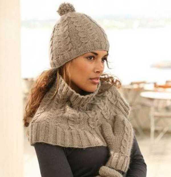 Прекрасно вписываются в тандем с пальто шарфы-воротники одного с ними или близких оттенков цвета
