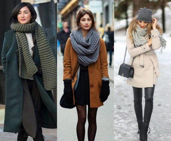 В зависимости от текстуры ткани существует множество видов завязывания шарфов