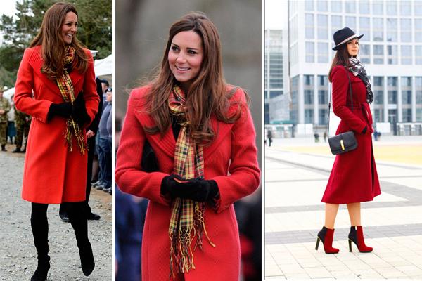 Пальто с вырезом в форме буквы V позволяет завязывать шарф множеством разных способов