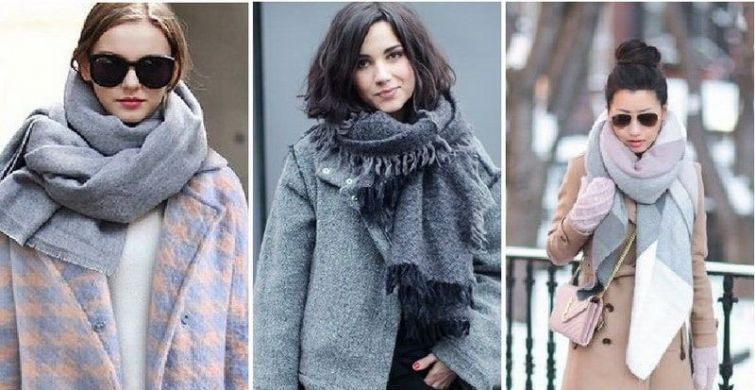При выборе аксессуара к пальто важно учитывать их цвет, фасон одежды и разновидность шарфа