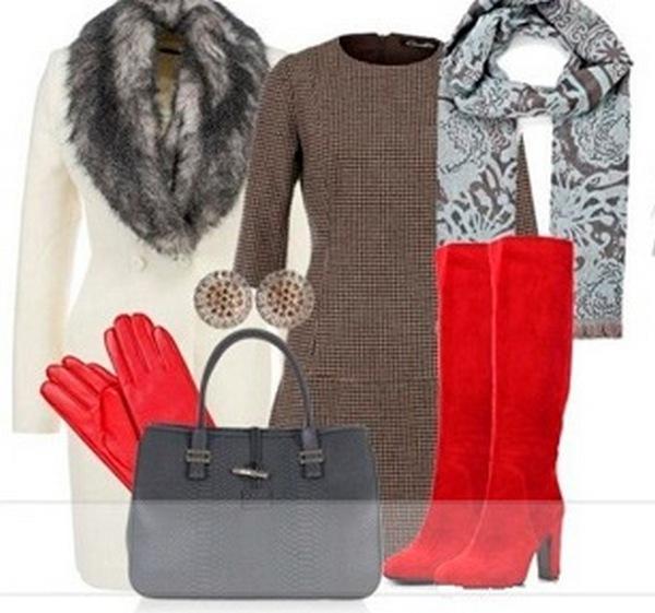 Лучшее дополнение к пальто с меховым воротником - шарф из тонкого полотна