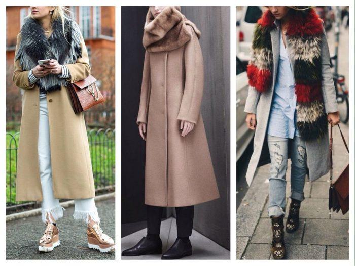 Длинные пальто можно комбинировать как с длинными, так и с короткими шарфами