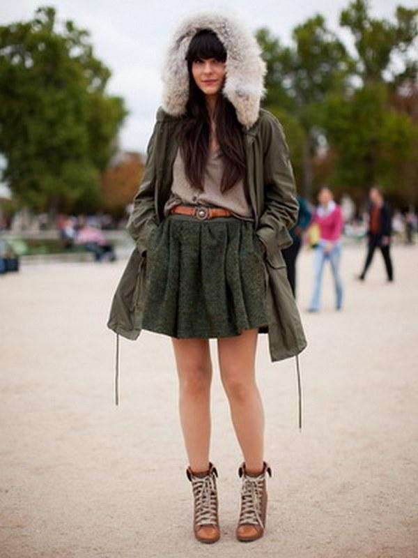Обувь к парке выбирают в зависимости от ее фасона