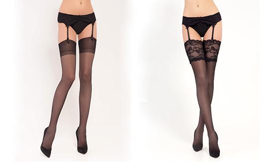 Чулки под пояс подойдут для юбок и платьев длиной до колена или ниже.