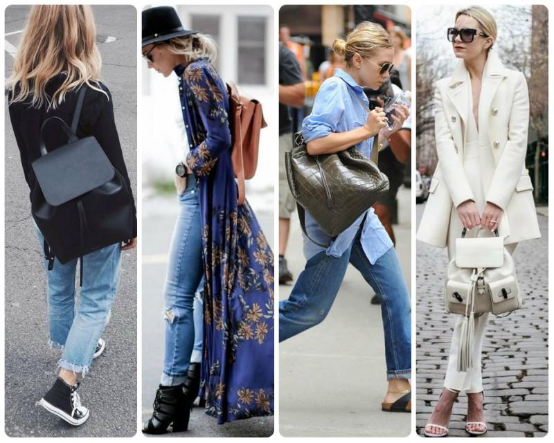 Идей, как носить рюкзак, очень много.