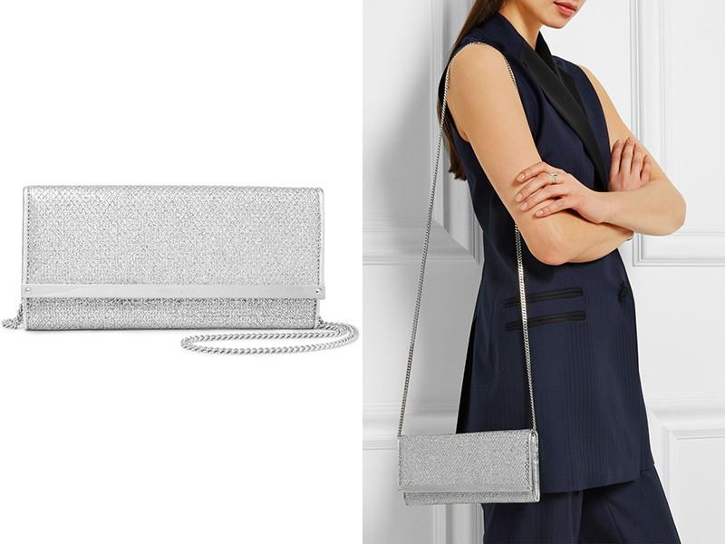 Возьмите сумочку с камнями и образ станет более изысканным.