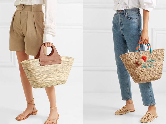 Сочетайте плетеный аксессуар с шортами или джинсами.