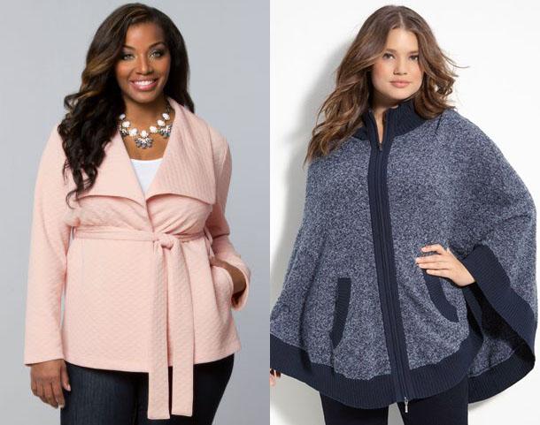 Фасоны верхней одежды для полных женщин довольно разнообразны.