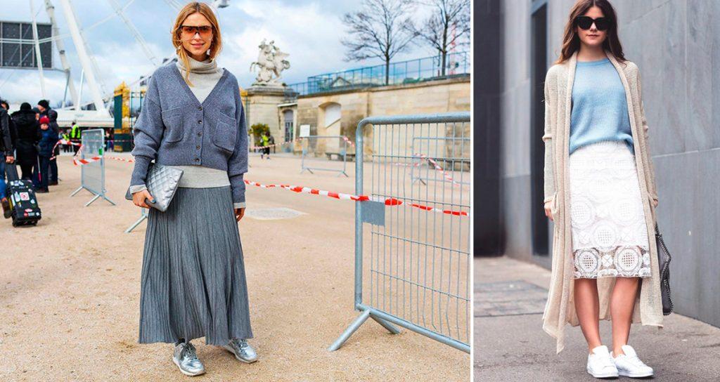 Создавайте модные луки с юбками разных фасонов.
