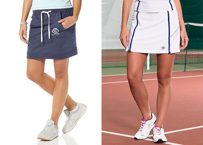Юбки для тенниса обеспечивают свободу движений.