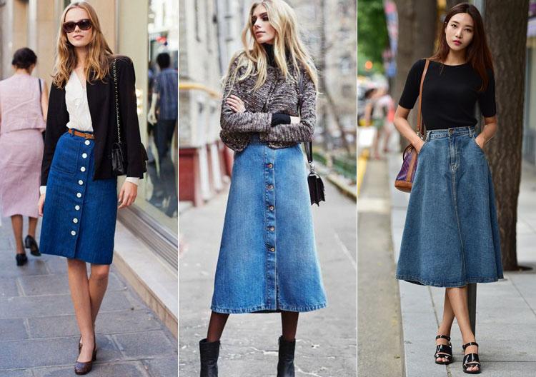 Джинсовые юбки задают спортивный тон в аутфите.