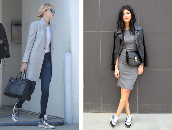 Кроссовки одинаково хороши как с джинсами, так и с платьями.