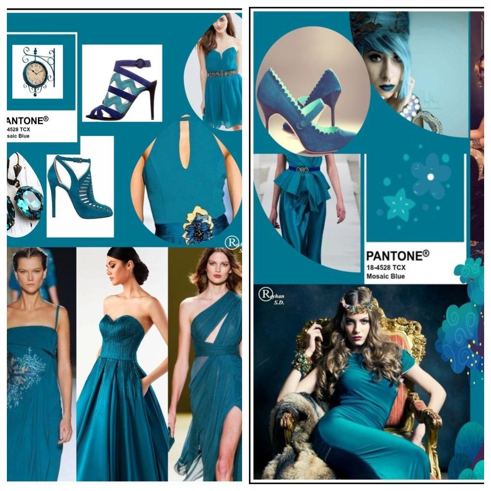 PANTONE 18-4528 Mosaic Blue (Мозаичный синий)