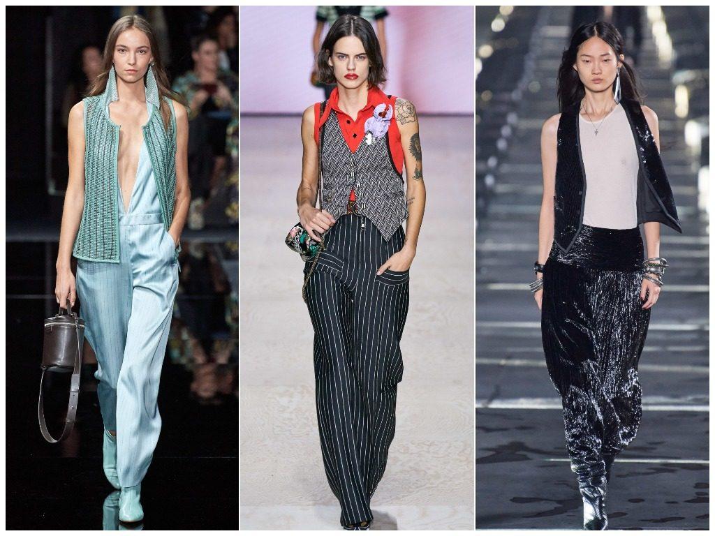 Emporio Armani, Louis Vuitton, Saint Laurent весна-лето 2020