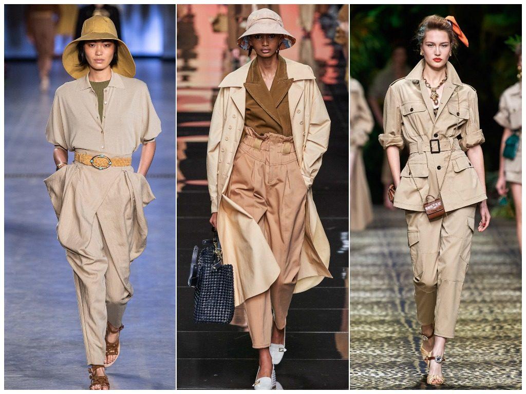 Alberta Ferretti, Fendi, Dolce & Gabbana весна-лето 2020