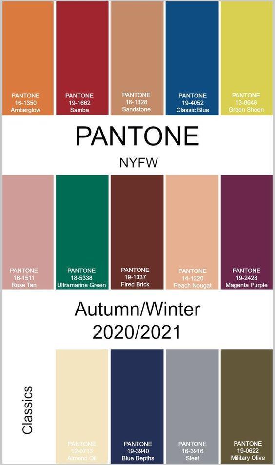 Модная палитра Нью-Йорк осень-зима 2020-2021